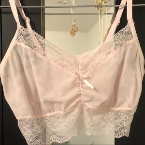 Freya longline sheer ballet pink bralette